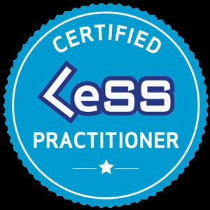 LeSS training badge